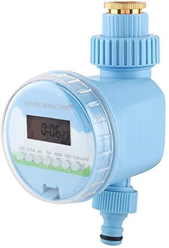 Kit de riego por goteo Irrigación temporizador, Smart Garden Single-Outlet electrónico profesional de agua de riego automático Controlador de temporizador de riego con pantalla LCD, funciona con pilas