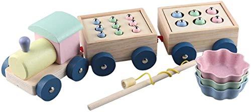 FANPING Interactivos Juguetes de Madera, Juegos magnéticos Pesca Juguetes, Catch Worm Regalos educativos for la Primera bebé Juguetes for Las niñas, los niños Juguetes