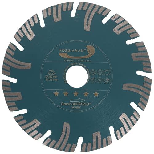 PRODIAMANT Disco diamantato professionale per taglio granito Super Speed Cut PDX826.050 150 mm x 22,2 mm