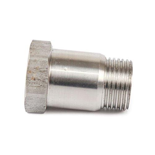 02 Extendeur de sonde Extender 304 Acier Inoxydable Universel M18 X 1.5 Straight Oxygen Sensor Bung Spark Plugs Espace (02 Sensor Extension)