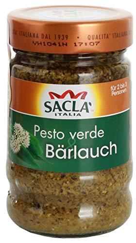 Saclà Pesto mit Bärlauch | Für Pasta und Salat | Zum Verfeinern und Würzen | Im Glas | 190 g