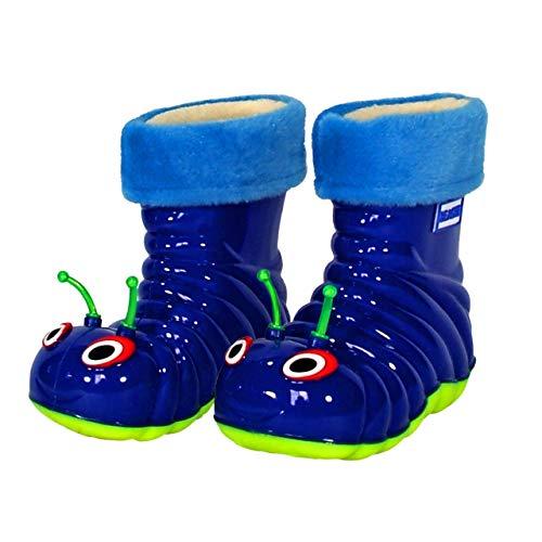 Children's Waterproof Rain Boots Cartoon Animals Toddler/Little Kid (8 M US Toddler), Blue