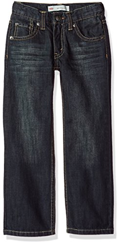 Levi's Boys' Little 505 Regular Fit-Jeans, Dirt Road, 6 Slim