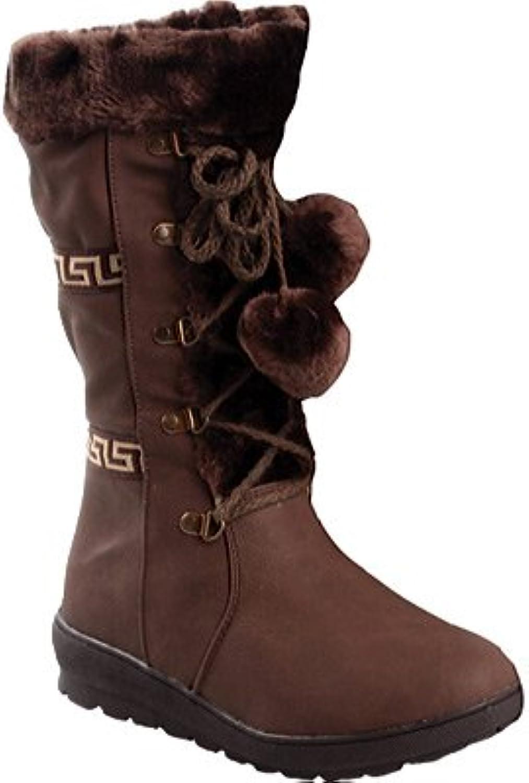 Reneeze Womens Coco-1 Flat Heel Mid Calf Boots