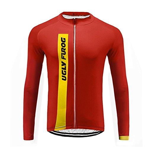 Uglyfrog JKTSCM13 Primavera ed Estate Uomo Sport all'Aria Aperta Usura Manica Lunga Magliette Ciclismo Maglia Bicicletta Bici Abbigliamento Bici Triathlon Wear