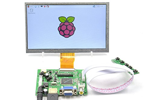 pzsmocn 7-Inch-1024 * 600 Capacitive Touch Panel LCD Display HDMI Monitor DIY Kit for Beagle Bone Black/Raspberry Pi/PC/MacBook
