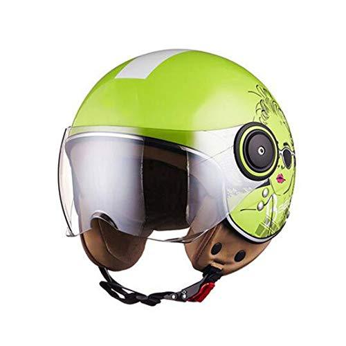 Riding Helmet,Adult Open Face Helmet, Motorcycle Retro Jet Beanie Half Mask Men and Women Goggles Riding Half Shell Best Bike Scooter Helmet, ECE/DOT Certification