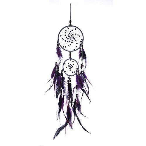 .a 21 años de plumas naturales atrapasueños, colgante para decoración del coche, decoración del hogar