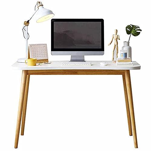 LJFYXZ Mesa de Ordenador Mesa de Escritura Blanca para la Oficina en casa Pequenos Espacios 31,5 Pulgadas Trabajo de Escritorio(Size:100x60x75cm)