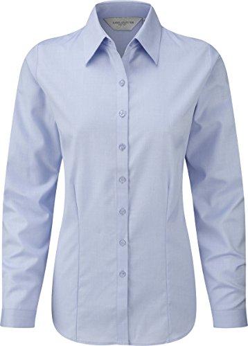Manches longues Herringbone Shirt Russell Collec - White - UK 18/US 14/EU 46