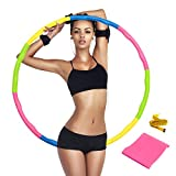SAFETYON Fitness Hoops,Removable Exercise Hoop suit for adult and children - Comes with resistance bandand tape measure