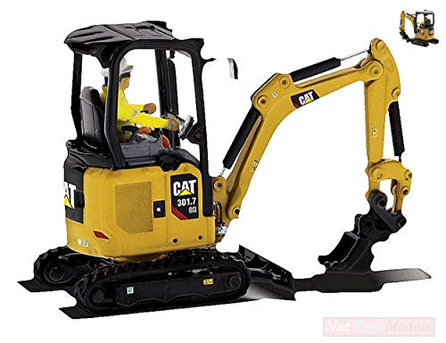 NEW DIECAST Master DM85597 Cat 301.7 CR Hydraulic Excavator 1:50 MODELLINO Die Cast