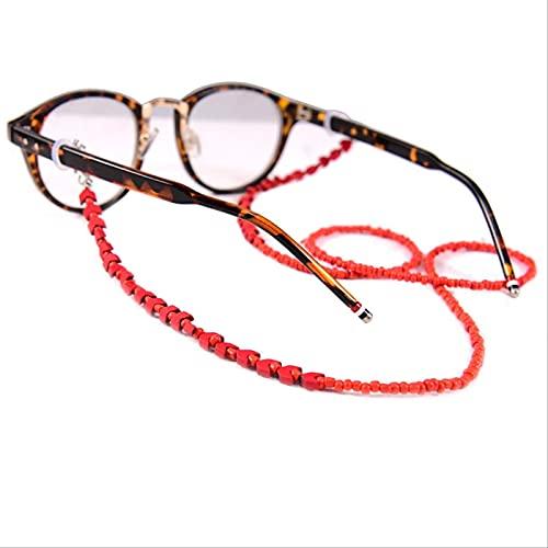 眼鏡チェーンメガネチェーン3mmカラーライスビーズメガネチェーンスプレーペイントひし形