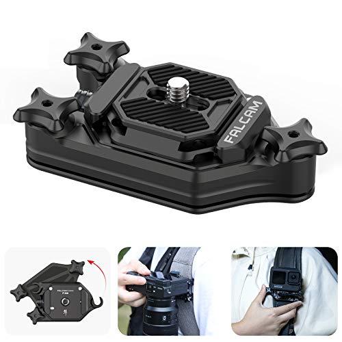 Ulanzi カメラホルスター カメラホルダー バックパッククリップ キャプチャー型 Arca-Swiss規格1/4ネジプレートクイックリリースクランプ 簡単脱着 リュッククリップ ウエストクリップ ベルトクリップ 一眼レフDSLR Digital SLR Camera/Sony/Canon/Nikonに対応 アルミ合金製