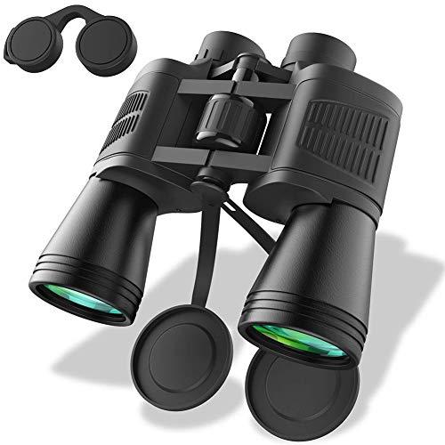 W.zz Binoculares 12 X 50 Espejo De Metal Bajo Nivel De Luz Visión Nocturna BAK 4 Prism Binoculares, Lente FMC, Ideal para Caza Al Aire Libre, Etc, Trajes para Adultos Y Niños