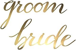 Simplydeko Dekobanner | Wundervolle Banner und Girlanden für Party, Geburtstag, Weihnachten und Hochzeit (Stuhl-Banner Bride & Groom)