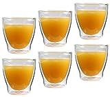 6x 200ml doppelwandige Eisschalen, Kaffeegläser & Teegläser, edle Vorspeisegläser, Thermogläser mit Schwebeeffekt