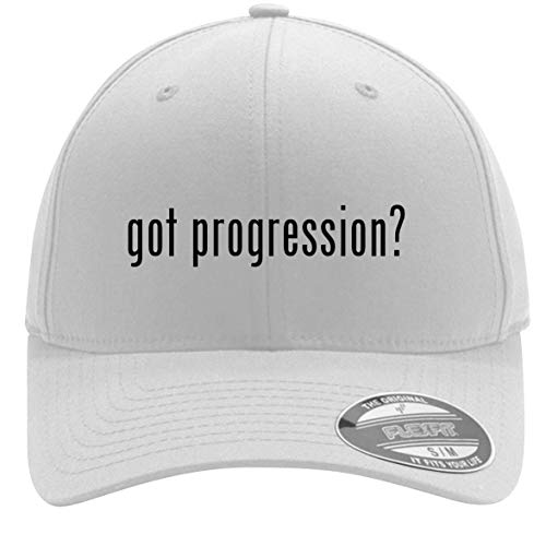 got Progression? - Adult Men's Flexfit Baseball Hat Cap, White, Large/X-Large