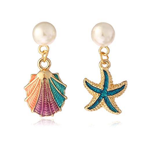 RG-FA - Pendientes de aleación esmaltada, para mujer, joyería para atraer dama, playa, fiesta, estrella, irregular, decoración para niñas, exquisita decoración de moda