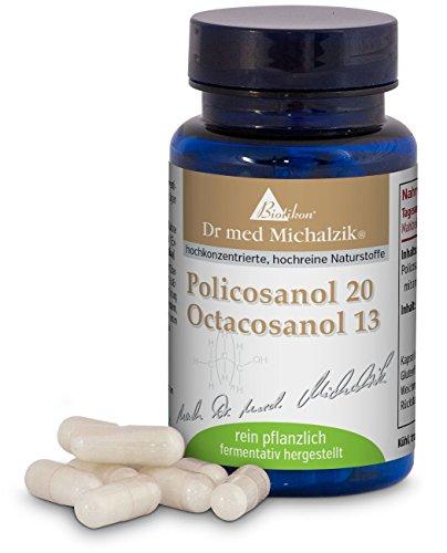 Policosanol 20 mg PRO Octacosanol 13 mg del Dr. med. Michalzik - 60 Cápsulas