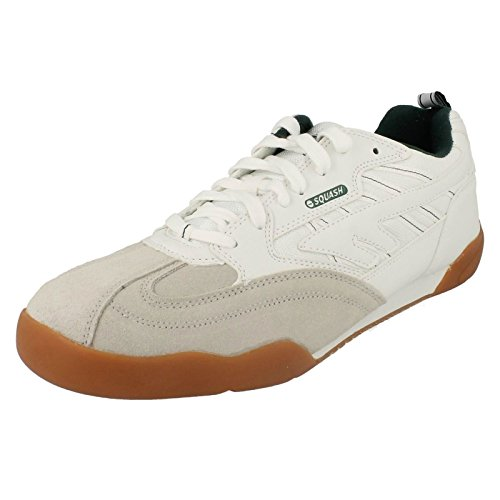 Hi-Tec 62622, Scarpe da Squash e Badminton, uomo, Bianco, 44,5 EU