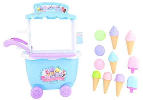 Este carrito de helado es perfecto para los pequeños que aman fingir jugar a cafeterías, cocinas y restaurantes. Dentro de la caja, recibirá todo lo que necesita para construir y crear su propio carrito de helados. Venda cucuruchos, paletas de hielo ...
