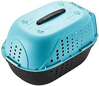 Royale Dog Pet Travel Carrier Dog Cat Rabbit Basket Plastic Handle Hinged Door Folding Collapsible Transport Box Crate Cag...