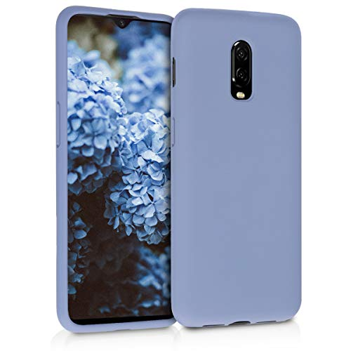 kwmobile TPU Silicone Case for OnePlus 6T - Soft Flexible Rubber Protective Cover - Lavender Grey