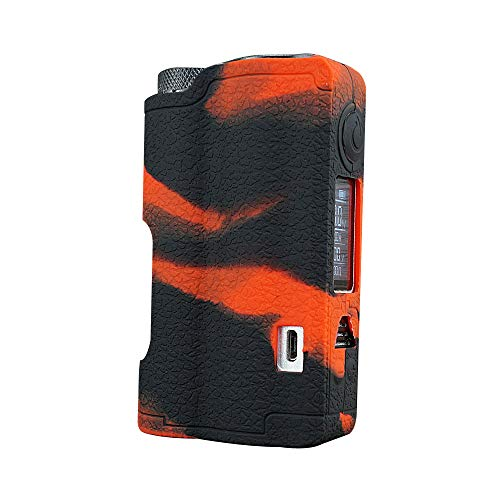 Dovpo Topside Case, DSC-Mart Texture Silicone Cover for DOVPO Topside 90W Squonk Mod Protective Sleeve Shield Wrap (BlackRed)