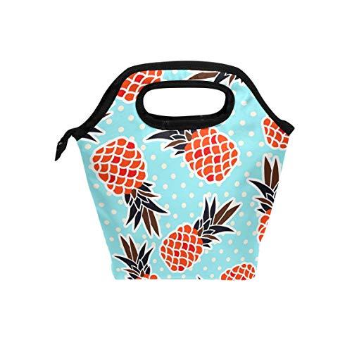 Lunch boodschappentas ananas op punten Coole handtassen met ritssluiting voor picknick