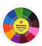 13 Couleurs Kit De Peinture Drôle De Doigt, Peintures Lavables Pour Enfants, Peinture Au Doigt Pour Enfants Non Toxique, Ensemble de Peinture pour Enfants Dapprentissage Précoce, Pour Lartisanat ,18CM