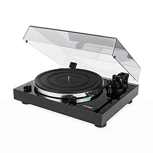Thorens TD 202 piatto audio Lucido Nero