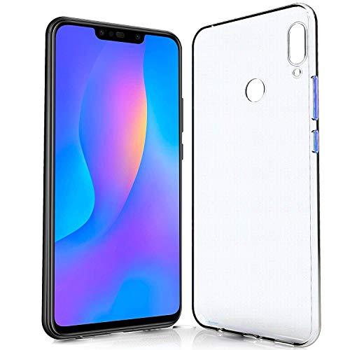 NewTop Cover Compatibile per Huawei P Smart/Plus/Z/2020/2019 Plus, Custodia Morbido TPU Clear Silicone Trasparente Slim Sottile Case Posteriore Protettiva (per P Smart Plus)