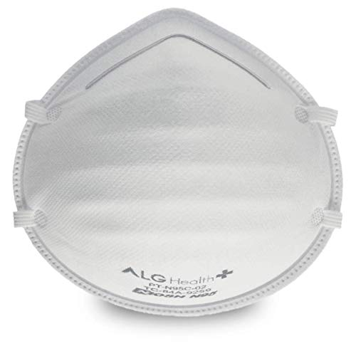 ALG Health Patriot N95 Mask - NIOSH Certified - Made In USA - Cup - Reg. Size (Box of 25)