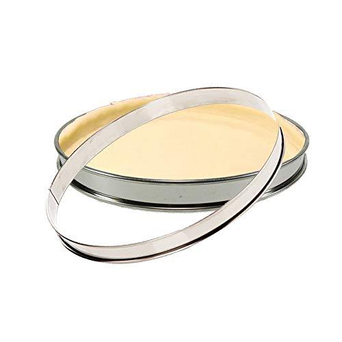 Gobel 2 Cercles A Tarte sans Fond INOX 30 cm Made in France Lot VinetCuisine
