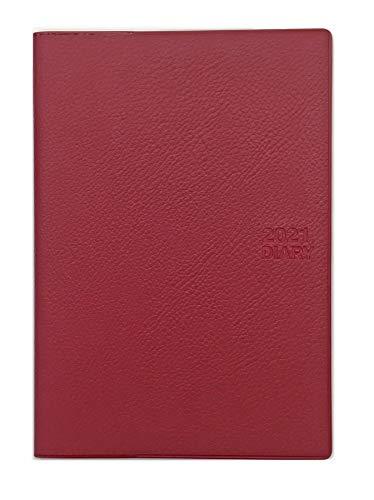 生産性手帳 2021年 マンスリー B6月間ブロック薄型・日曜始まり ワインレッド No.528 (2020年12月始まり)
