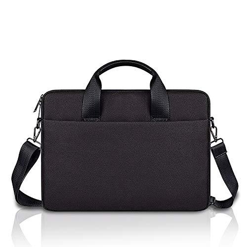 E.YOMOQGG 14 inch Laptop Case Laptop Shoulder Bag, Laptop Sleeve Carrying Case with Shoulder Straps & Handle, Multi-functional Notebook Briefcase 14' inch for Men & Women (Black)