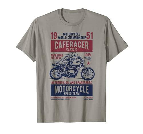Cafe Racer Tshirt Retro Motorcycle Biker Gift T-Shirt