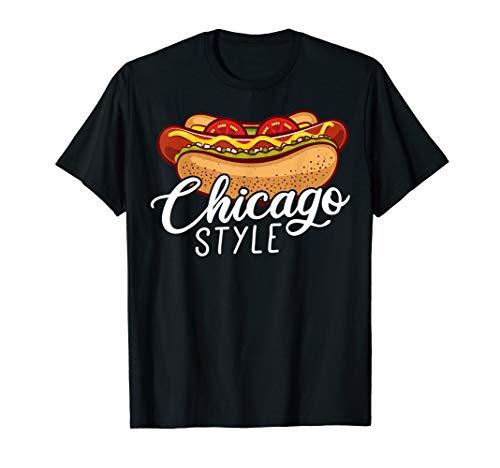 Chicago Style HOT DOG Gift Hotdog T-Shirt