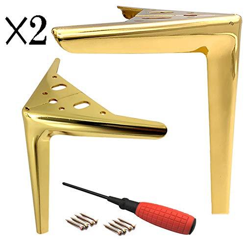 Juego de 4 Triángulo Patas de Muebles,7'/18 cm Moderno Metal Sofá Repuesto Patas, para Cocina Gabinete Mesa de Centro (Dorado)