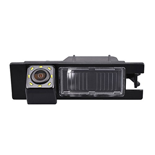 HDMEU Vehículo que Invierte la Cámara, la Matrícula de la Cámara de Visión Trasera del Coche con Luz LED a Prueba de Agua la Visión Nocturna para Astra H Corsa D Vectra C Tigra Meriva A Regal