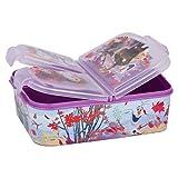 Disney Frozen 2 - Die Eiskönigin II Anna und Elsa Kinder Premium Brotdose Lunchbox Frühstücks-Box Vesper-Dose mit 3 Fächern