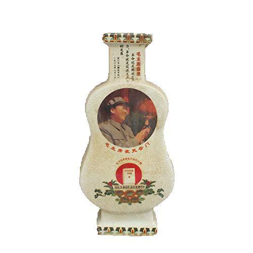 Fashion158 Jingdezhen Culturele Revolutie Porselein Crack Glaze Opening Viool Vaas Pen Tube Voorzitter Mao Nostalgische Collectie Decoratie