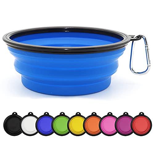 SLSON Collapsible Dog Bowl Portable Foldable Dog Travel Bowls Pets Cats Puppies Water Feeding Bowls...