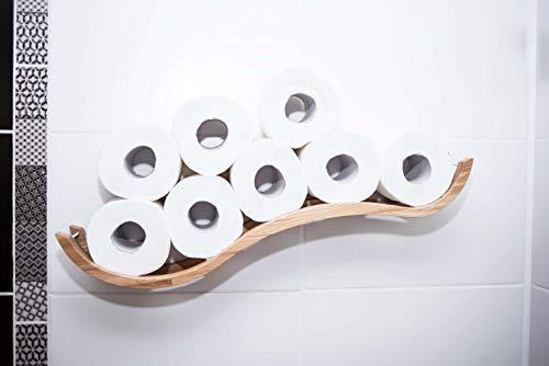 Portarrollos de papel higiénico de madera para papel higiénico, soporte de madera para papel higiénico