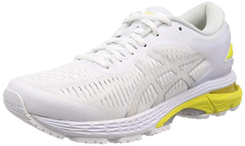 ASICS Gel-Kayano 25, Scarpe da Running Donna, Bianco (White/Lemon Spark 101), 38 EU