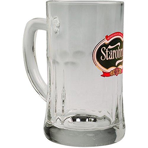 STAROBRNO BIER KRÜGERL SET mit 6 Gläser NEU 0.5 LITER Glas