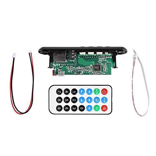 Zerone Decodificador Bluetooth MP3 WMA, 12v FM Tarjeta de Módulo de Audio Inalámbrico Soporte USB, TF, FM, Llamadas, con Manos Libres