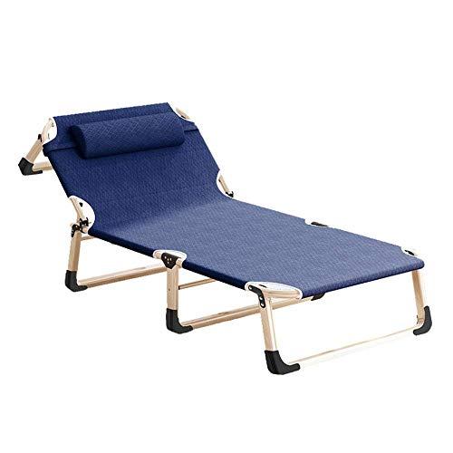 FZYE Cama Plegable reclinable Oficina Siesta Cama para Siesta Cama de acompañante Simple Simple Cama de Campamento portátil-A Azul Oscuro