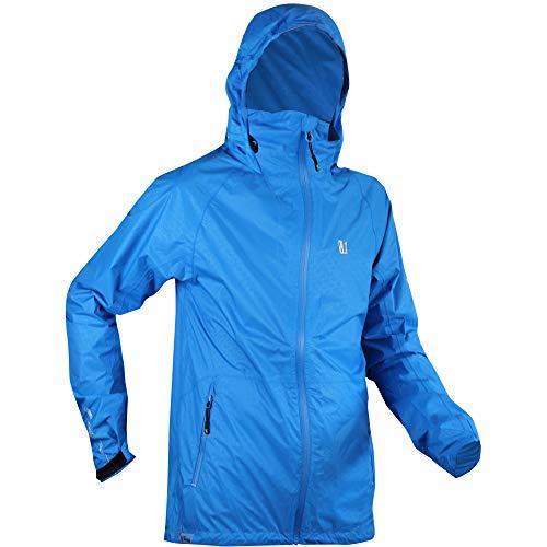 Vertical Camino JKT Bleu, imperméable Homme pour Trail et Course à Pied. (M)